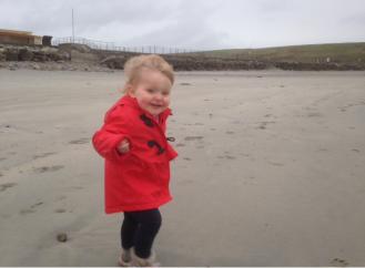 Saoirse enjoying the wind...